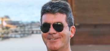 Simon Cowell wants you to look at his virile, furry moobs: 'Not too shabby, eh?'