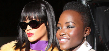 Lupita Nyong'o flew to Paris to attend the Miu Miu show & hang with Rihanna