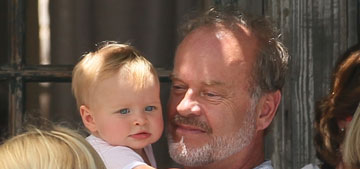 Kelsey Grammer's wife is pregnant again, his grandson is older than his youngest