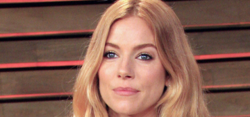 Sienna Miller got hammered at the Oscar parties, ate all of the cucumber garnish