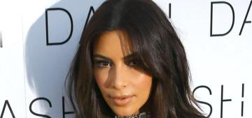 Kim Kardashian wears midriff-baring chain-mail in Miami: unflattering & awful?