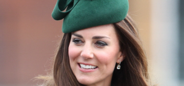 Duchess Kate wears a green Hobbs coat to St. Patrick's Day event: lovely?