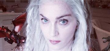 """Madonna dressed up as Daenerys Targaryen for Purim, of course"" links"