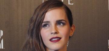 """Emma Watson looked sophisticated in J. Mendel in Madrid"" links"