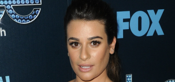 Lea Michele wears lace Milly dress with granny panties: tacky or sexy?