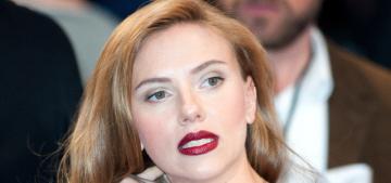 Scarlett Johansson in Vivienne Westwood at UK premiere: uncomfortable or fab?