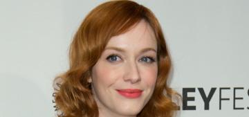 Christina Hendricks honors L'Wren Scott in a Fall 2012 look at Paleyfest: lovely?