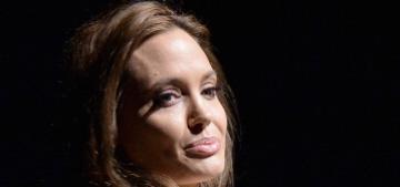 Angelina Jolie wore a cream sack ensemble to CinemaCon: fabulous or fug?
