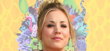 Kaley Cuoco got a choppy shoulder-length haircut for Spring: cute & flattering?