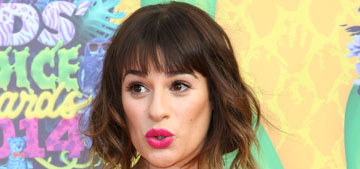 Lea Michele's 'Marilyn moment' at Kids' Choice Awards, was her dress too short?