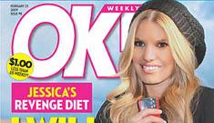 New cover of OK!: Jessica Simpson's revenge diet
