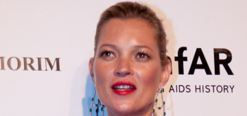 Kate Moss covers up in Saint Laurent at amfAR gala: boho-chic or sloppy?