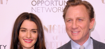 Daniel Craig escorts a Narciso-clad Rachel Weisz to charity event: hot?