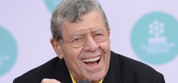 Jerry Lewis still doesn't think ladies should do comedy, because… babies…?