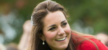 Duchess Kate repeats a Luisa Spagnoli suit from 2011, plays cricket in heels