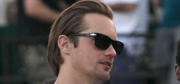 Alex Skarsgard has arrived for the Viking beer & other Coachella photos
