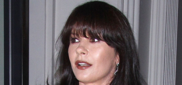 Catherine Zeta Jones shows off her new bangs in NYC: awful or awesome?
