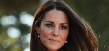 Duchess Kate wears a white Zimmerman dress, jokes about Will's baldness