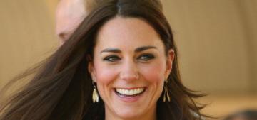 Duchess Kate wears beige Roksanda Ilincic, talks about George's 'fat rolls'