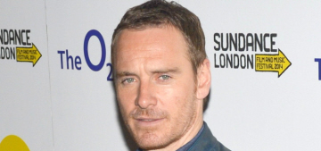 Michael Fassbender wore blue leather for Sundance London: would you hit it?