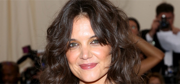 Katie Holmes in mustard Marchesa at the Met Gala: whimsical or terrible?