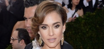 Jessica Alba in lace Diane Von Furstenberg at the Met Gala: staid or lovely?