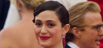 Emmy Rossum in Carolina Herrera at the Met Gala: gorgeous or floral nightmare?