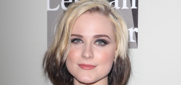 Evan Rachel Wood goes for a bold two-tone hair color: does she pull it off?