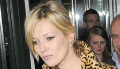 Kate Moss is three months pregnant, according to British reports