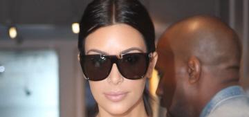 Kim Kardashian & Kanye do matching denim in Paris ahead of their wedding: LOL?