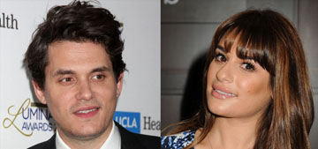 John Mayer is hitting on Lea Michele, but she's rebuffing him: smart move?