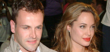 Angelina Jolie says her first ex-husband Jonny Lee Miller 'is still a great friend'