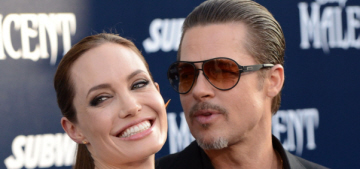 Angelina Jolie wore Versace, Brad Pitt was assaulted at 'Maleficent' LA premiere