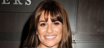 Lea Michele started drinking wine with her dinner as a toddler: 'I'm Italian'