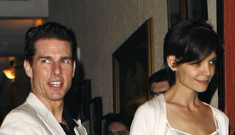 Tom Cruise and Katie Holmes won't attend Oscars