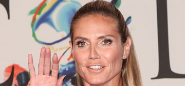 Heidi Klum in Donna Karan at CFDA Fashion Awards: at least it's not clinging to her?