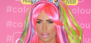 Katie Price dresses up like a cracked-out Rainbow Brite: fabulous, fun or fug?