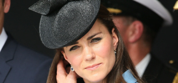 Duchess Kate repeated a McQueen look, kissed an 88-year-old D-Day veteran
