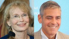 George Clooney & Mia Farrow visit Darfur, Clooney visits Irish troops