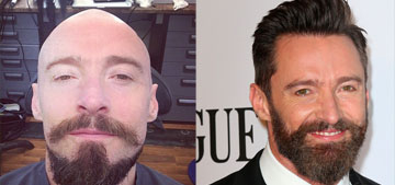 Hugh Jackman shaved his head bald for a role: hot or pirate meets Mr. Clean?