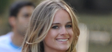 Cressida Bonas steps out in a backless halter ensemble: tacky or sexy?