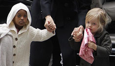 Angelina Jolie, Zahara and Shiloh go shopping with their favorite things