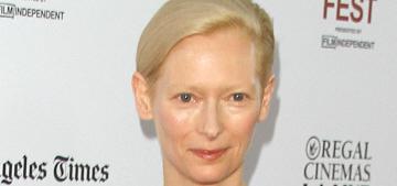 Tilda Swinton in Schiaparelli Couture at LA Film Festival: lovely or unflattering?