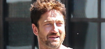 Gerard Butler had a day-time ice cream date with a mystery woman