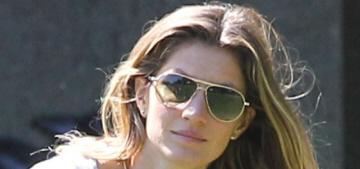 """Gisele Bundchen & Tom Brady have a family day in Boston"" links"