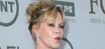 Melanie Griffith covers Antonio tattoo with makeup: good for her or why bother?