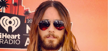 Jared Leto shaves his beard & keeps a weird 'stache: improved or not?