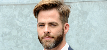 """Chris Pine takes his grey bearded hotness to Milan fashion week"" links"