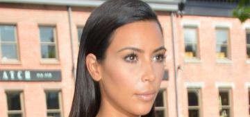 Kim Kardashian wears body-con suede in a NYC heat wave: swampy or cute?