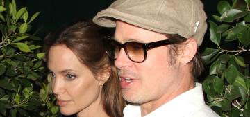 Angelina Jolie & Brad Pitt had a quiet date night at Ago, an Italian joint
